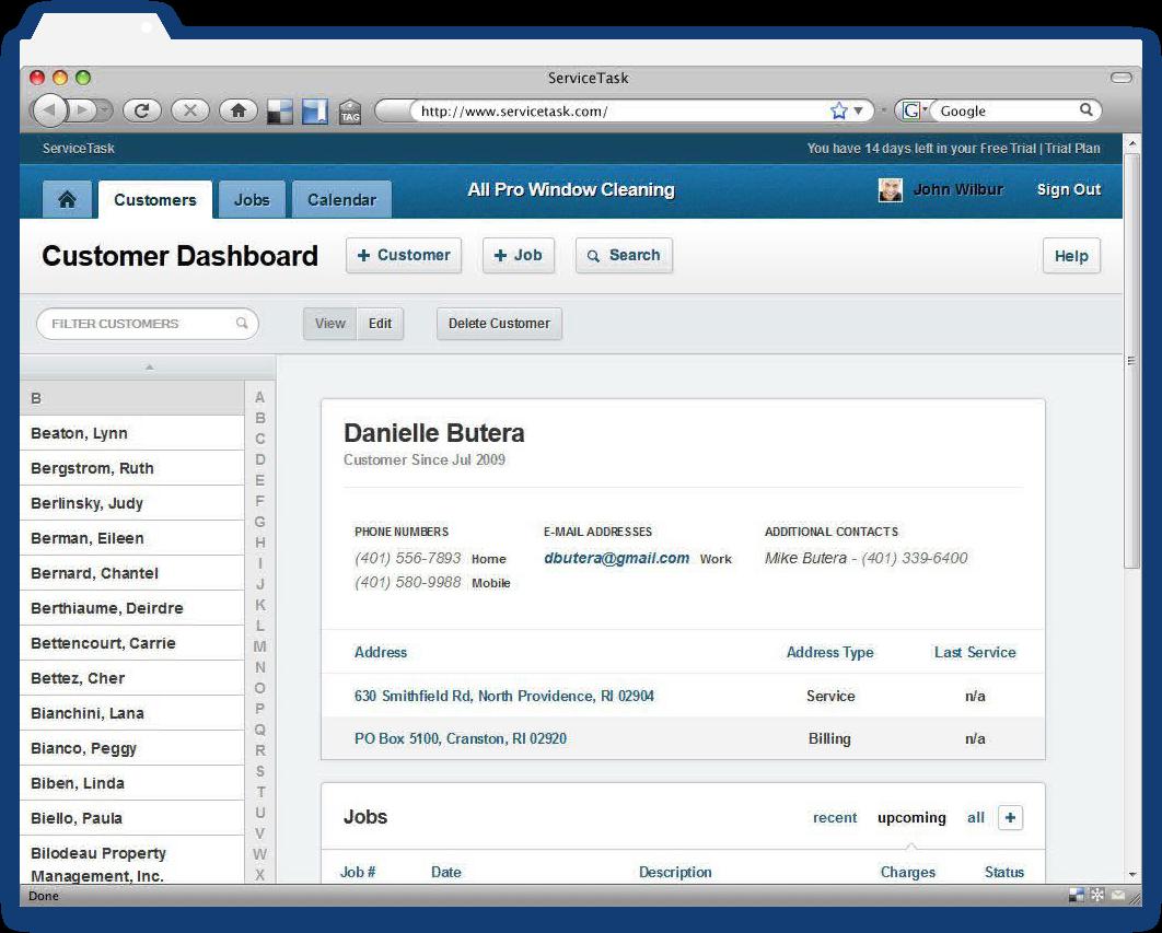 Service Task Screenshot